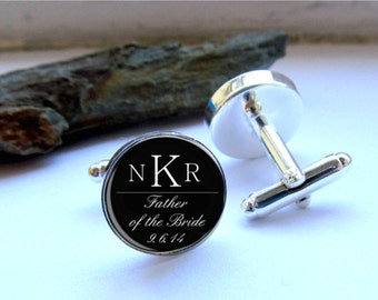 Mens Cufflinks, Father of the Bride Cufflinks, Father of the Bride Gift