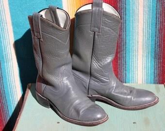 boys grey roper cowboy boots size 14 B