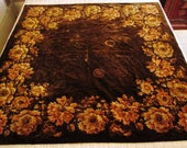 Vintage Antique Victorian Mohair Fabric, Metallic Flowers, Cutter for Crafts, Bears, Pillows