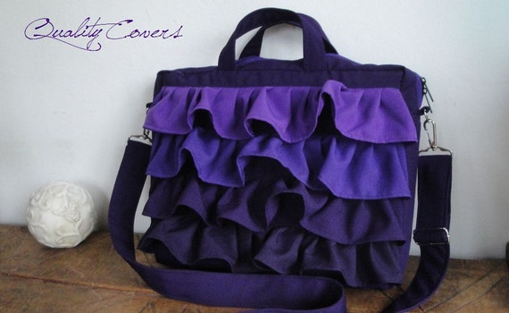 Customizable COLOR Fabric and SIZE - Fully PADDED Laptop bag - Messenger bag - Hidden Pocket - the bag is made to order