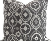 Romo Graphite Geometric Pillow Cover Square, Euro or Lumbar Pillow,  Throw Pillow, Accent Pillow, Toss Pillow