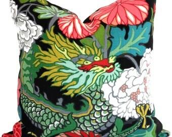 Ebony Schumacher Chiang Mai Dragon Decorative Pillow Covers, Toss Pillow, Accent Pillow, Throw Pillow, Pillow sham