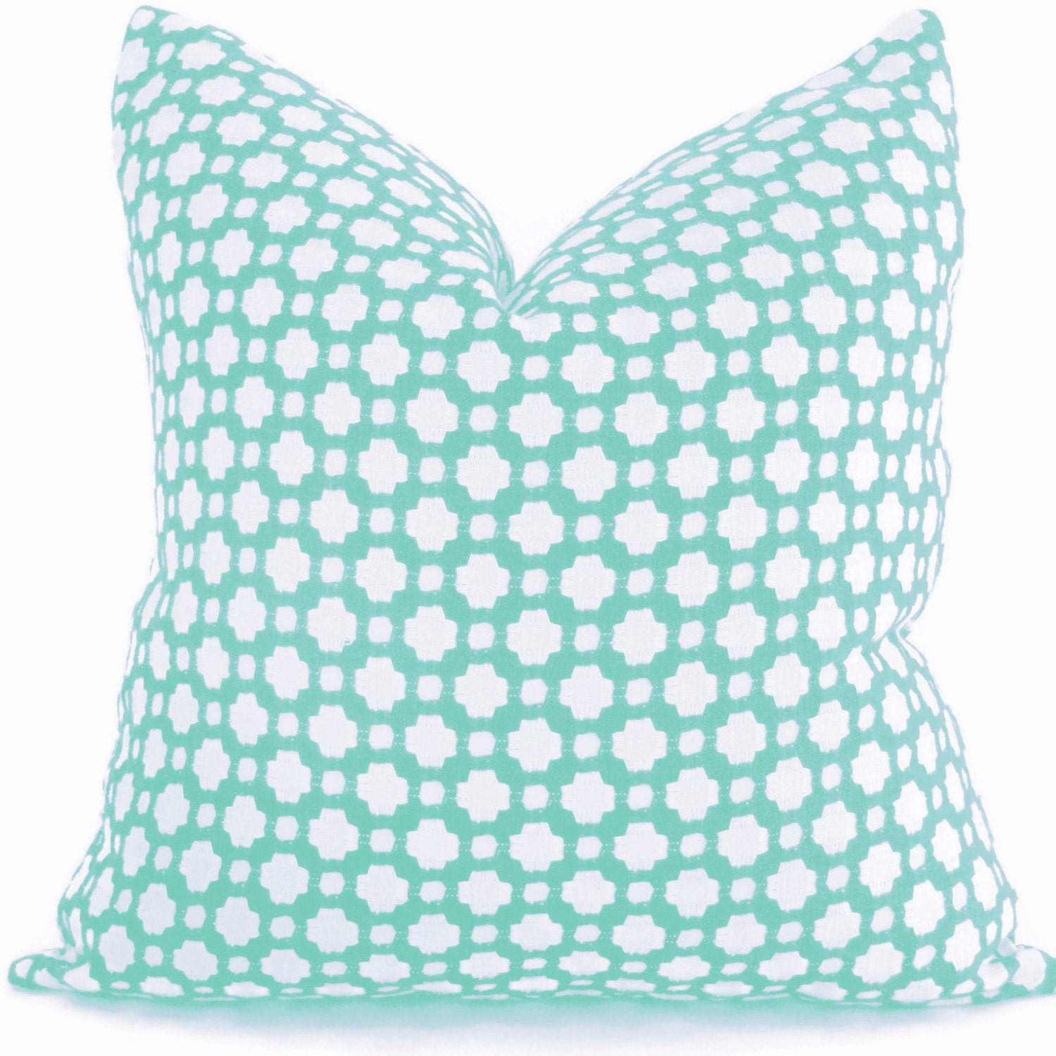 Pool Blue Throw Pillows : Pillow Cover in Schumacher Betwixt in Pool Turquoise