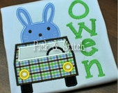 Beep Beep Easter Bunny Car Applique Design Machine Embroidery INSTANT DOWNLOAD