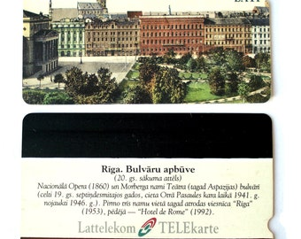 Vintage Telecard Public Phone Smart Card Latvian Lattelecom Old Riga