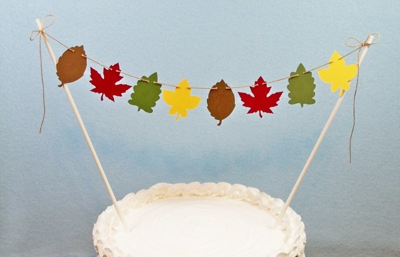 fall leaf wedding cake topper autumn wedding cake topper garland fall leaf bunting harvest 14147
