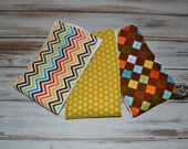 Baby Burp Cloths - Boutique Style Argyle Chevron Dot Burp Cloth Set - Sweet Admirer