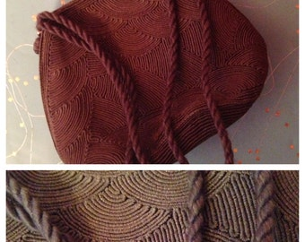 1940 brown corde purse