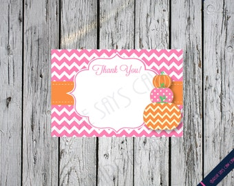 SALE!! INSTANT DOWNLOAD**  Little Pumpkin Printable Baby Shower Thank You Note Card