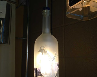 Grey Goose Recycled Bottle Hanging Pendant Light