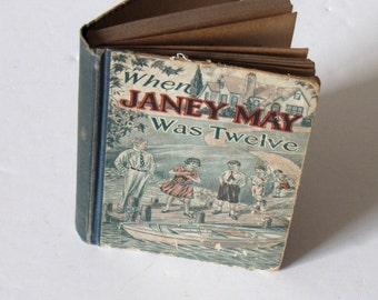 Vintage 1930 - When Janey May Was Twelve Hardcover Children's Book