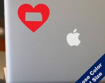 I Heart Kansas State Decal - Love - for Laptop, Car, iPhone