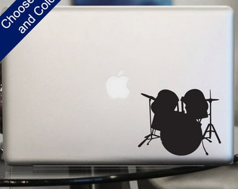 Drums Decal - Sticker for Laptop, Car