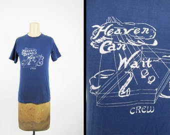 Vintage 70s Heaven Can Wait Crew T-shirt Belton All Cotton Made in USA - Small / XS