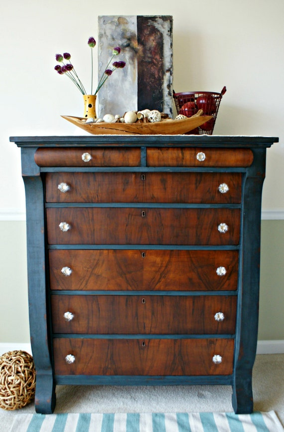 Items Similar To Empire Dresser Tall Chest Dresser With