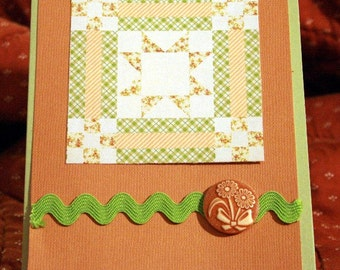 Quilt Block Card for Any Occasion  20140109