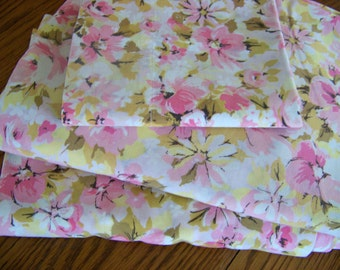 Vintage Floral Sheet Set Twin Pink Floral Sheet Set