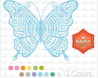 12 Butterfly Clip Art, For Invitations Cards Making, Shower Invites, DIY Project, Personal and Small Commercial Use.BP 0915