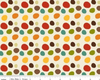 SALE - Giraffe Crossing - Dots Cream by RBD Designers from Riley Blake Fabric