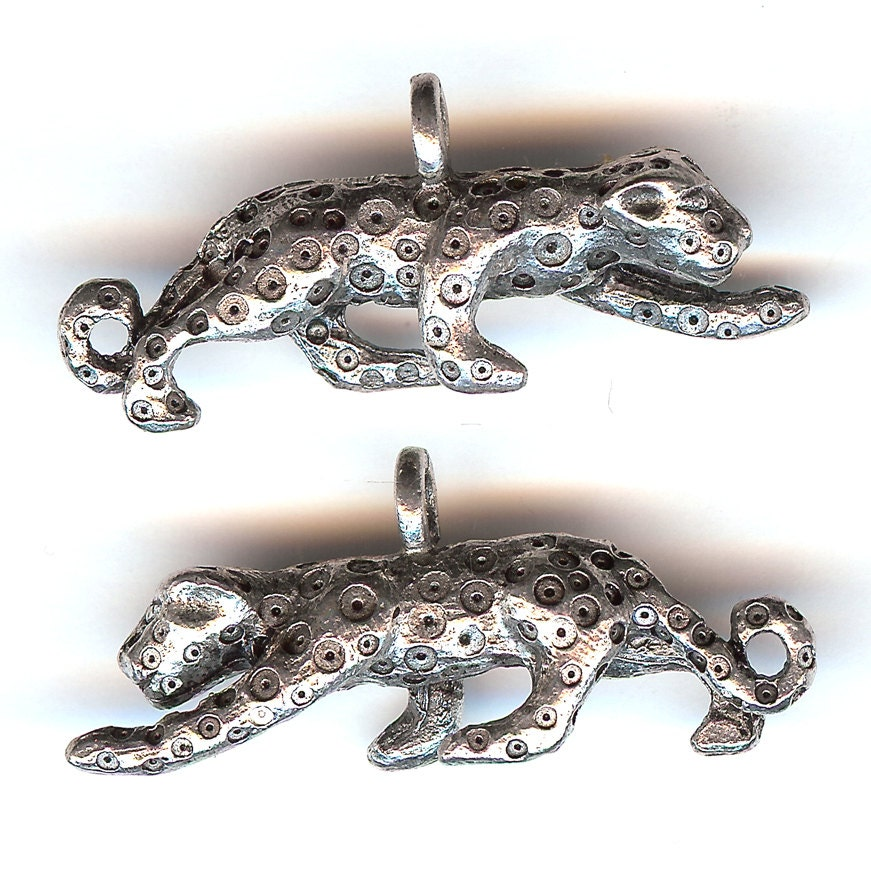 Crouching Jaguar: LEOPARD Charm. Pewter. Crouching. Cheetah. Jaguar. Panther