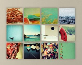 ocean photography // nautical decor // beach art set // - set of twelve nautical art prints
