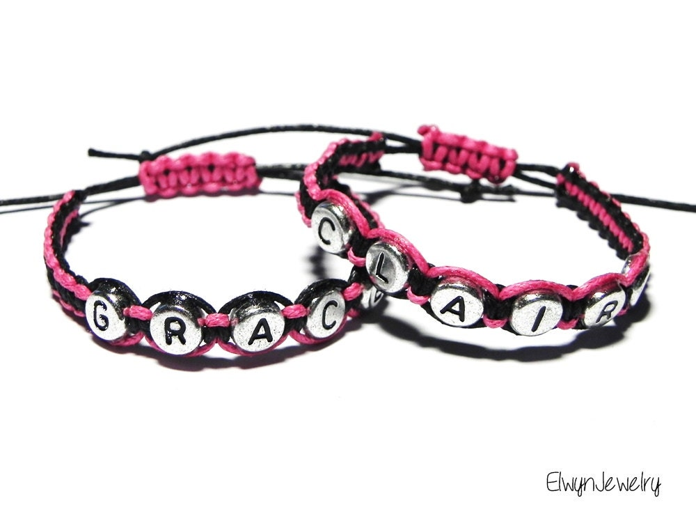 Name Bracelet Personalized Bracelet Child Bracelet Pink