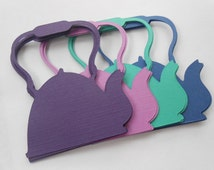 50 Teapots. 3 inch. CHOOSE YOUR COLORS.  Shower, Birthday, Weddings, Escort, Table Cards.