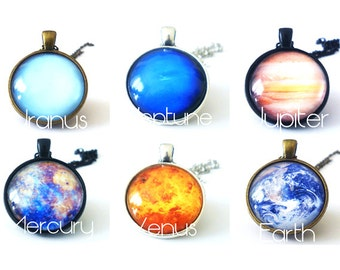 Space Exploration Necklaces Planets Sci Fi