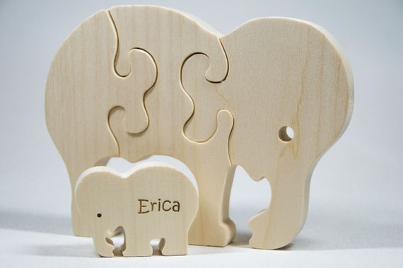 Elephant Puzzle from Etsy