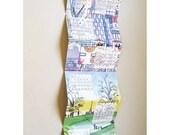 2014 wall calendar + New year card. London illustrated calendar. Calendar poster. Calendar wall. Desk calendar. Long print. London print.
