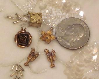 Lot of Vintage Metal Charms
