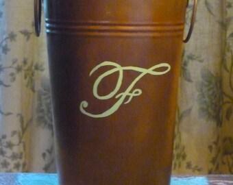 Galvanized Buckets - Rusty Tin Pail - Galvanized Pails - Farmhouse Style Chic - , Flower Vases - Table Centerpieces - Galvanized Tin Pails