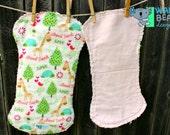 Rag Burp Cloths Animal Love Flannel Edgy Burpies Set of 2