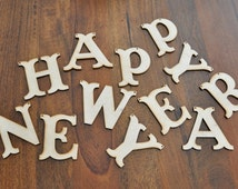 DIY Wooden Happy New Year banner