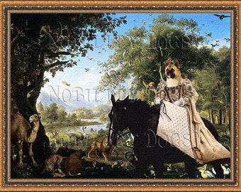 American Akita Art CANVAS Print Fine Artwork  Dog Portrait Dog Painting Dog Art Dog Print  Perfect Dog Lover Gift for Her Gift for Him