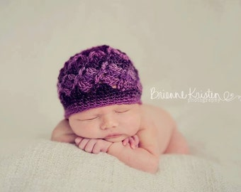 Unforgettable Twists Beanie - newborn size - Ready to Ship