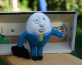 Needle Felted Egg Peaple - The Dreaming Financier - Made by order