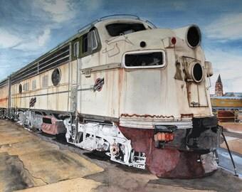 Northwest Train painting western US - 11 x 14 print