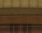 PRIMITIVE OLIVE GREENS - Wool for Rug Hooking, Applique, Penny Rugs, Quilting