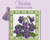 Textile Heritage Floral I Cross Stitch Needle Case Kits in a Variety of Designs-Violets, Tudor Rose, Orange Blossom, Poppy Meadow