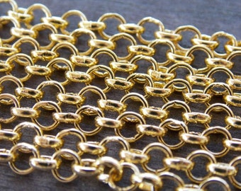 13 Feet Gold Plated Cable Chain 4mm 4 meters Nickel Free