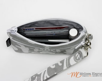 Small- Wristlet Wallet, Cell Phone Clutch with Removable Strap
