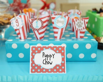 NEW INSTANT DOWNLOAD The Puppy Party Collection Party Labels
