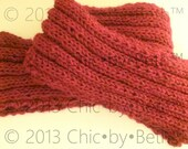ChicbyBeth Red Knitted Scarf