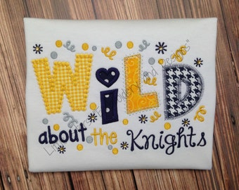 Wild about the Knights Football Shirt - Appliqued