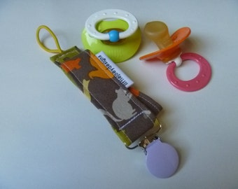 Pastel Zoo Animals Pacifier Clip