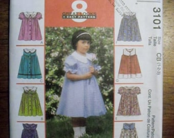 McCall's Toddler's Dress 3101