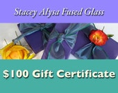 Gift Certificate for Fused Glass & Gemstone Jewelry - 100 dollars