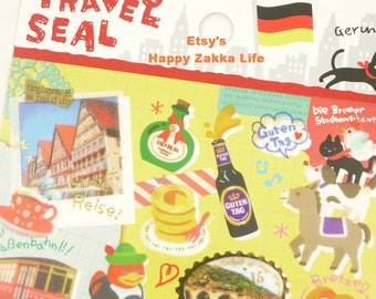 Translucent Die Cut Sticker  - Travel Seal Collection - Germany - 1 Sheets