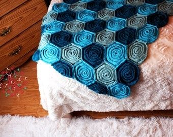 ROSE FIELD BABY BLANKET PATTERN Sewing Patterns for Baby